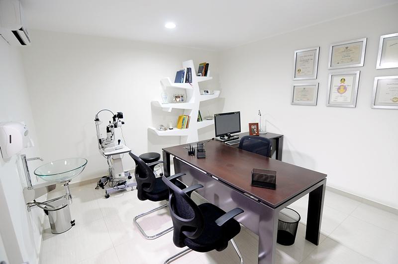 Well-known Optometrist eye exam room at Vision by Design in Edmonton, Alberta  BP05