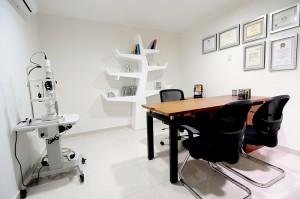 Consultorio del Centro oftalmológico Luis Sócola Vela