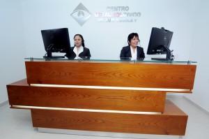 Recepción del Centro oftalmológico Luis Sócola Vela